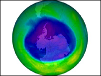 nasa ozone hole picture