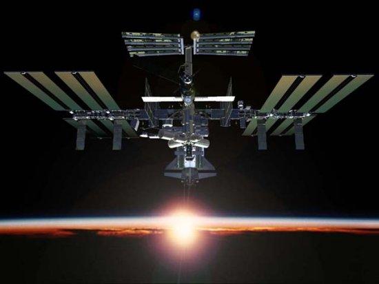 Diagram international space station inside
