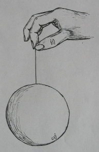 bulb on a string