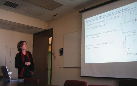 sabine hossenfelder giving talk at usc