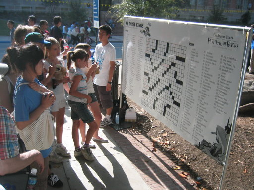 public crossword at festival of books
