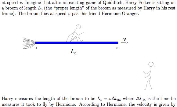 harry potter special relativity