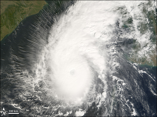 cyclone sidr -  nasa photo