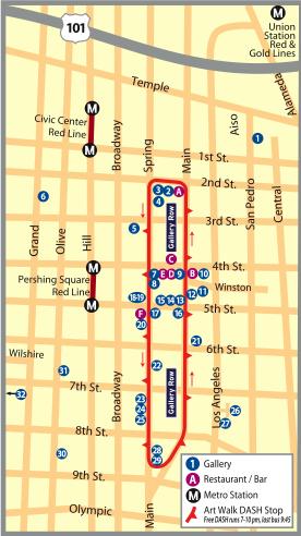 downtown art walk map