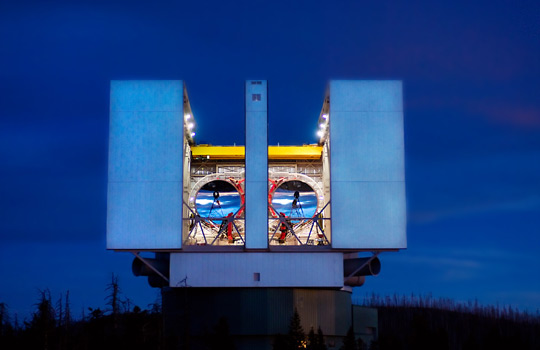 Large Binocular Telescope (image courtesy of the LBT)