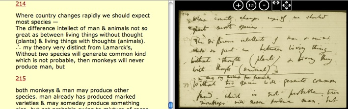 Extract from Darwin's Notebooks