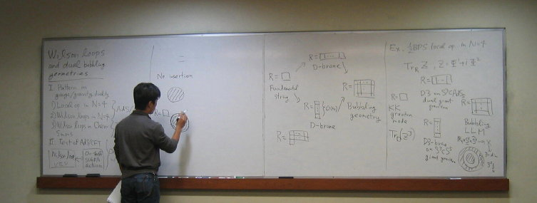 Takuya Okuda  talking at the SCSS at UCLA, Dec. 2007