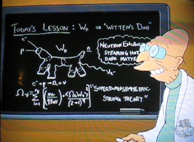 futuramas professor farnsworth with wittens dog