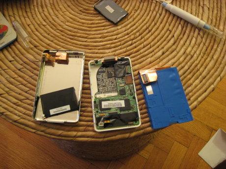 ipod battery replacement progress