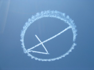 fantastic four promotional skywriting over LA on the July 2005
