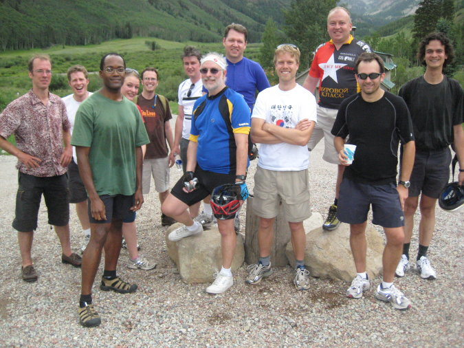 Lunchtime ride up to Pine Creek Cookhouse from Aspen Center for Physics