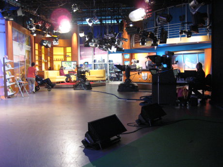 studio at univision morning show