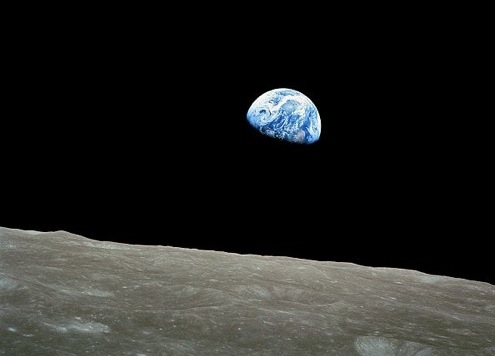 the earthrise picture from 40 years ago