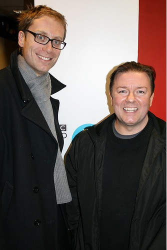 ricky gervais and stephen merchant on mayo