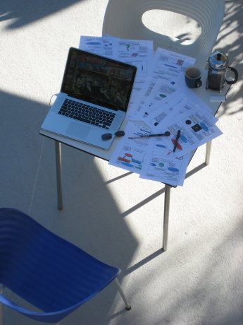 presentation preparation in the sun