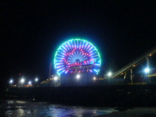 santa monica led ferris wheel