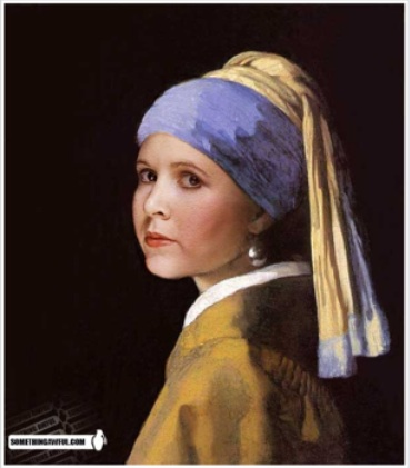 Princess Leia with the pearl earring...