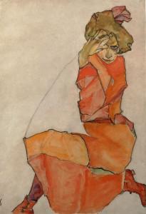 schiele_kniende-im-orangen
