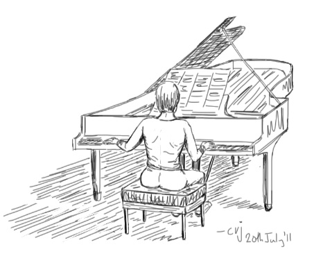 Person Playing Piano Drawing Images amp Pictures Becuo