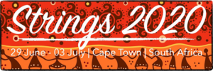 The beautiful Strings Cape Town 2020 logo/poster.